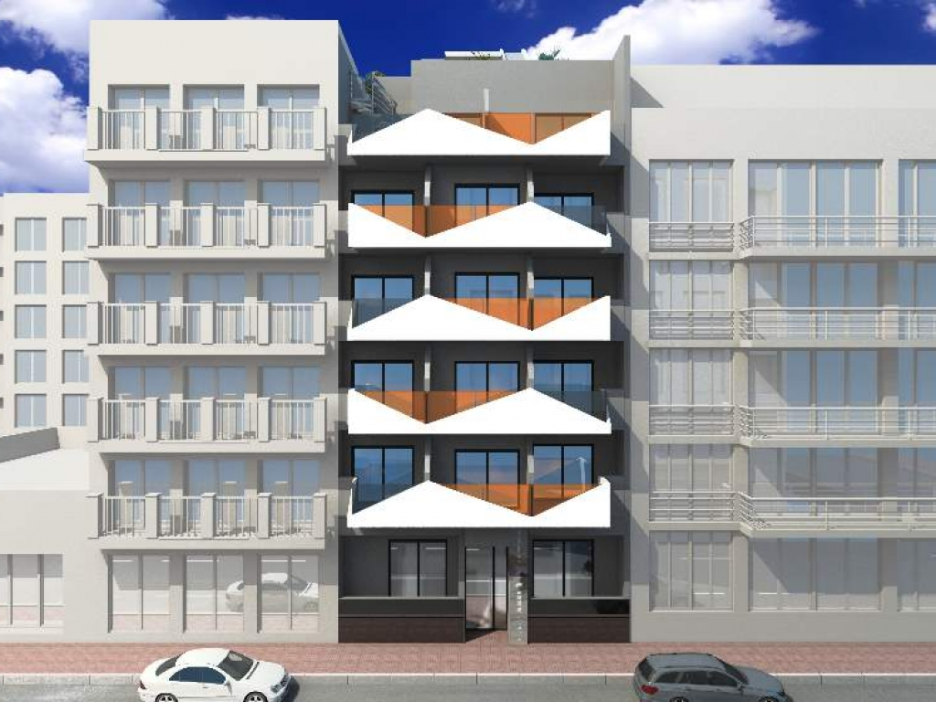 Torrevieja New Build 1 bed 1 bath apartment for sale on the 4th floor