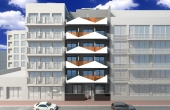LMCN56467, Torrevieja New Build 1 bed 1 bath apartment for sale on the 4th floor