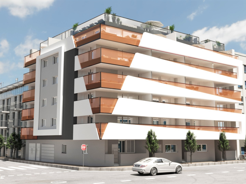 Torrevieja New Build 1 bed 1 bath apartment for sale on the 1st floor